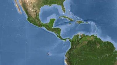 Nicaragua outlined and glowed. Neighbourhood. Satellite — Stock Video