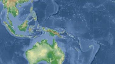 Papua-Nova Guiné delineado e brilhava. Bairro. Física — Vídeo stock