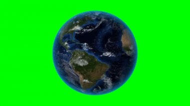 El Salvador. 3D Earth in space - zoom in on El Salvador outlined. Green screen background — Stockvideo