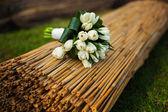 Wedding tulip bouquet — Stock Photo