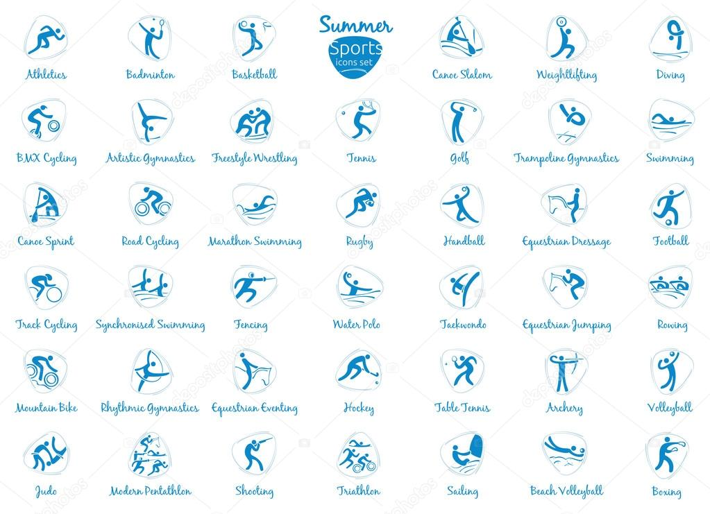 Winter olympic sports icons