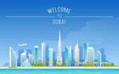 The urban landscape of Dubai — Stock Vector