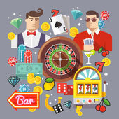 Poker online. Internet casino. — Stock Vector