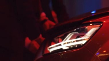 Rich Russian Businessman checking his Brand New Luxury Car — Stock Video