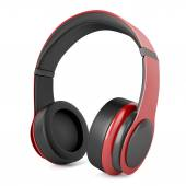 Headphones red — Stock Photo