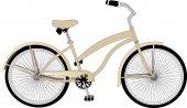La bicicletta di vettore in stile retrò — Vettoriale Stock