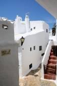 Binibeca alley white village, Menorca, Spain — Stock Photo