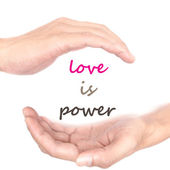 Hands concept for love is power — Stock Photo