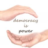 Hands concept for democracy is power — Stock Photo