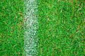 Fotbal pole bílé boční linie — Stock fotografie