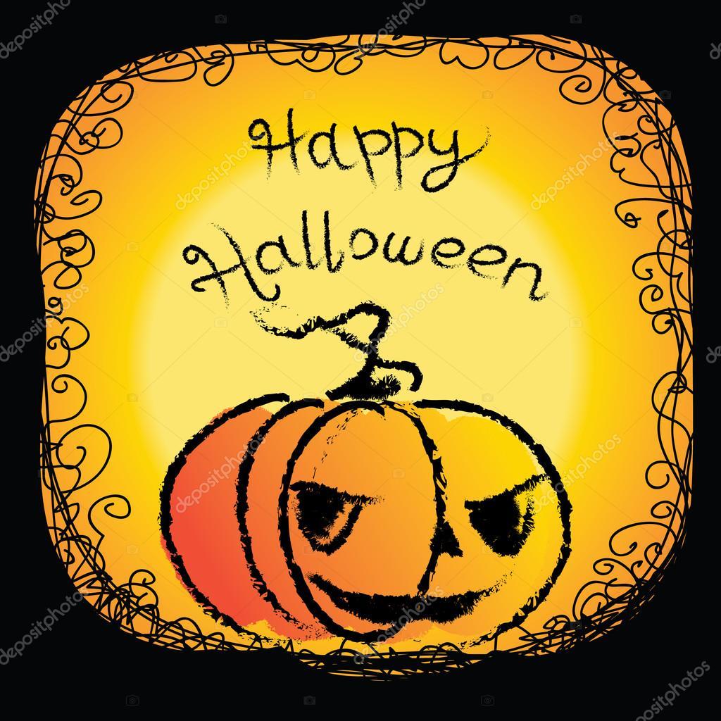 Открытки на хэллоуин рисунок 72