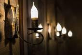 Lampen an der Wand — Stockfoto