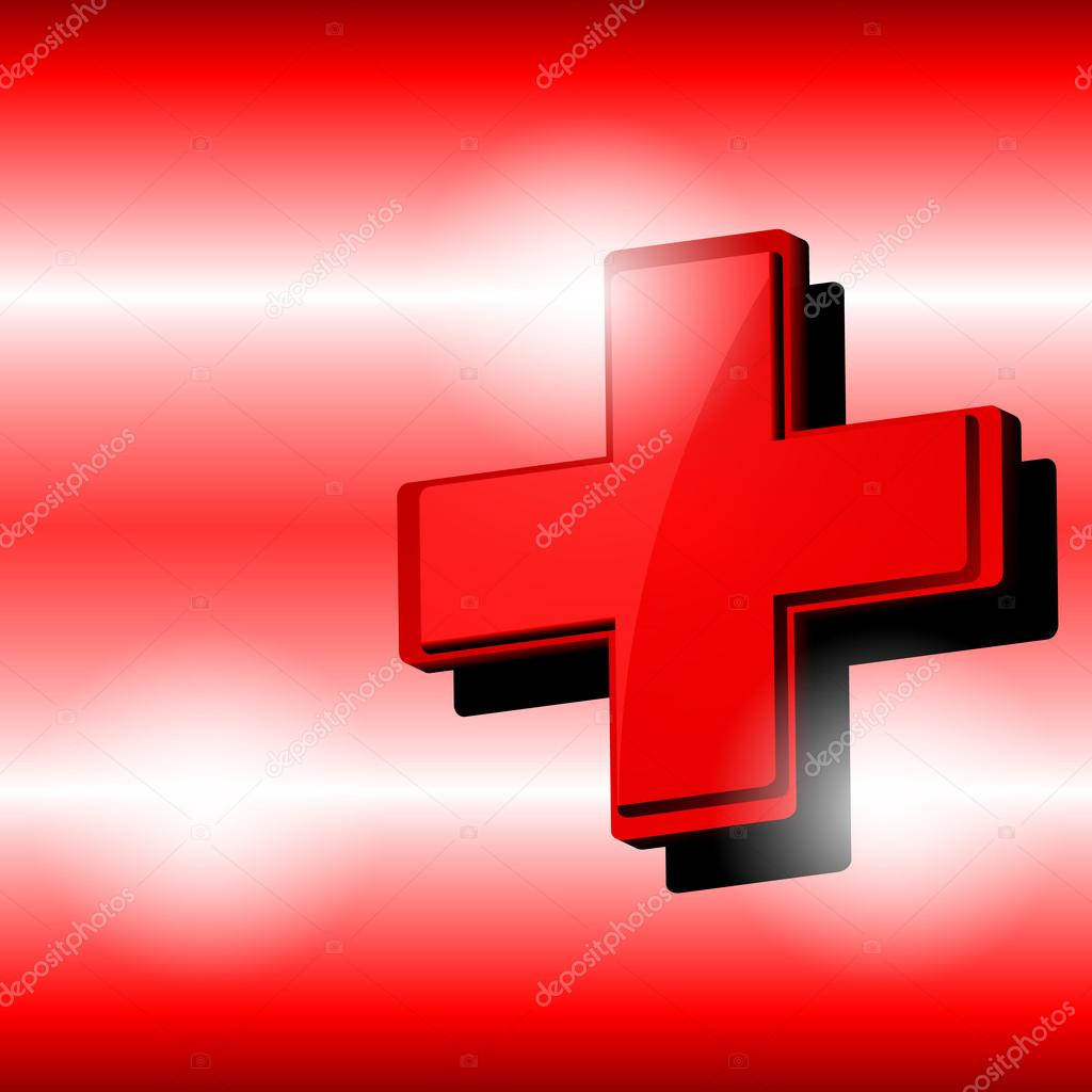 Rotes kreuz symbol  Vektoren-rotes Kreuz-symbol — Stockvektor © raccoondaydream #81894566