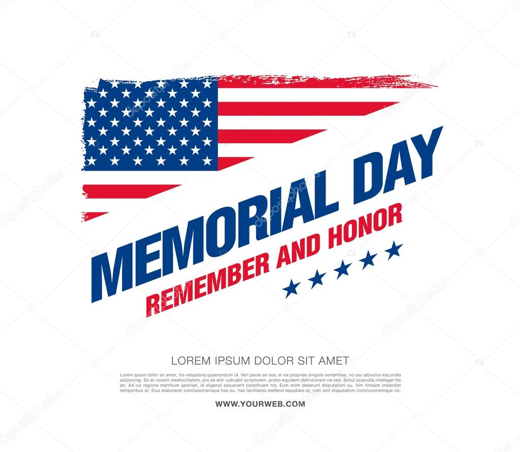 Memorial day. Remember and honor. — Stock Vector © Igor ...