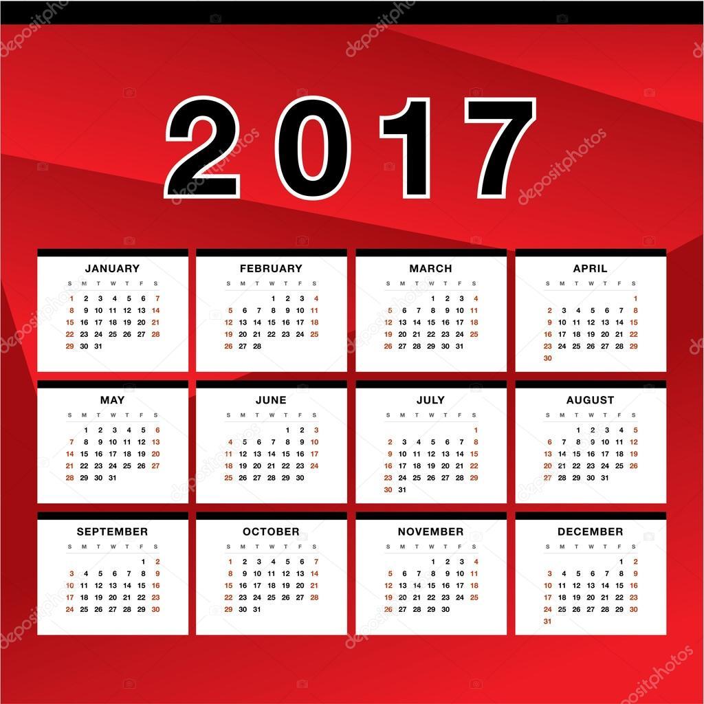 Calendar Design Html : Duvar takvimi tasarımı — stok vektör igor vkv