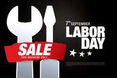 Labor day sale — Stock Vector