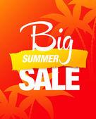 Big summer sale — Stock Vector