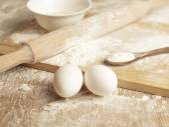 Basic ingredients for baking — Stock Photo