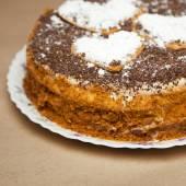 Cake with chocolate crumb. — Stock Photo