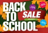 Zurück zu Schule-Verkauf — Stockvektor