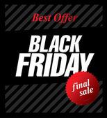 Siyah Cuma satışı — Stok Vektör