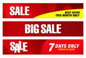 Büyük satış afiş — Stok Vektör