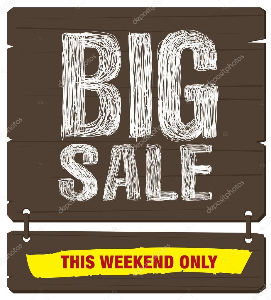 This Weekend Only: Grote Verkoop. Dit Weekend Alleen