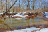 Shark River Park - snow covered bend — Stock Photo