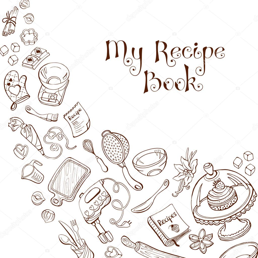 Cookbook Covers Coloring Page