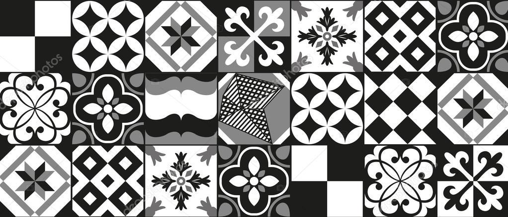 Fond de carreaux de ciment image vectorielle orkidia 114464284 - Carreaux de ciment noir et blanc ...