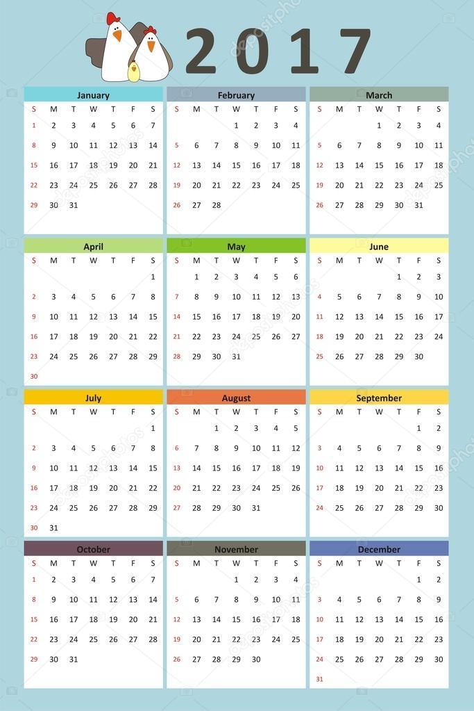 Скачать календарь 2016 2017 вектор скачать