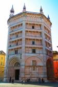 Wonderful view of the Baptistery of Parma,Italy, — Stock Photo