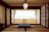 The interior in the Japanese style. 3d illustration. — Stock Photo