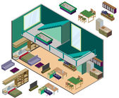 Illustration of infographic interior  room concept — Stock Vector
