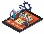 Illustration of info graphic time management concept — Stock Vector