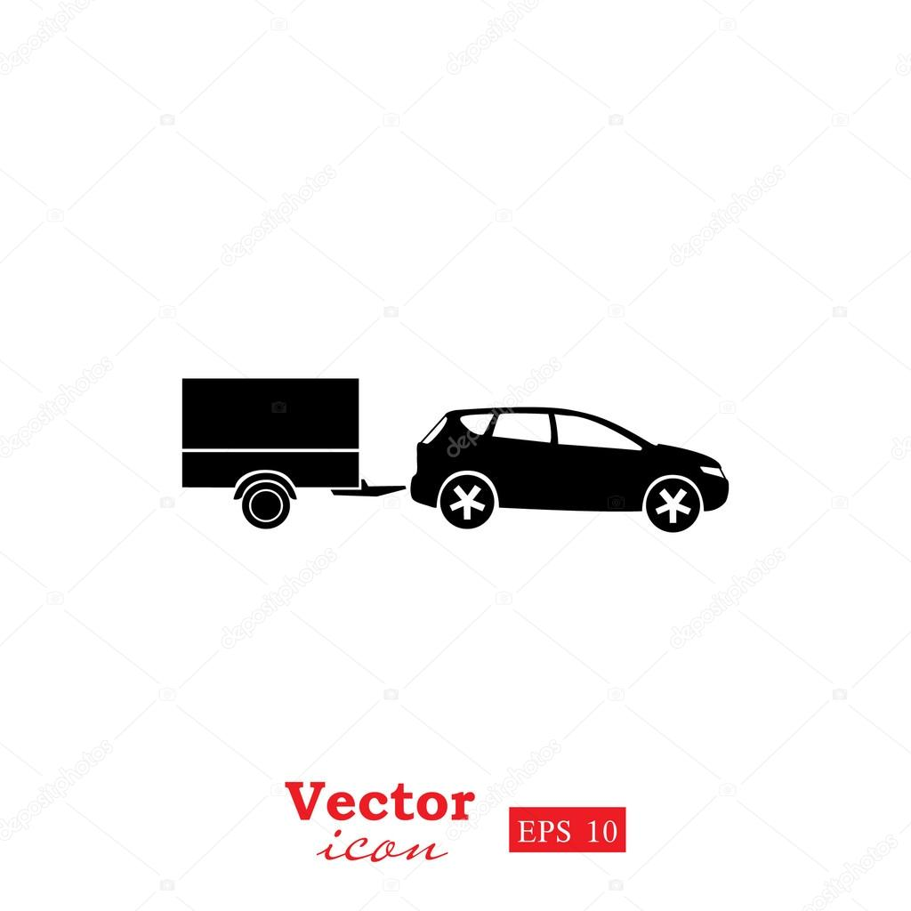 auto mit anh nger symbol stockvektor 107572146. Black Bedroom Furniture Sets. Home Design Ideas