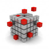 Cube on a white background illustration of business — Stock Photo