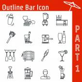 Bar Icon — Stock Vector