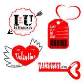 ValentineLogoSet1 — Stock Vector