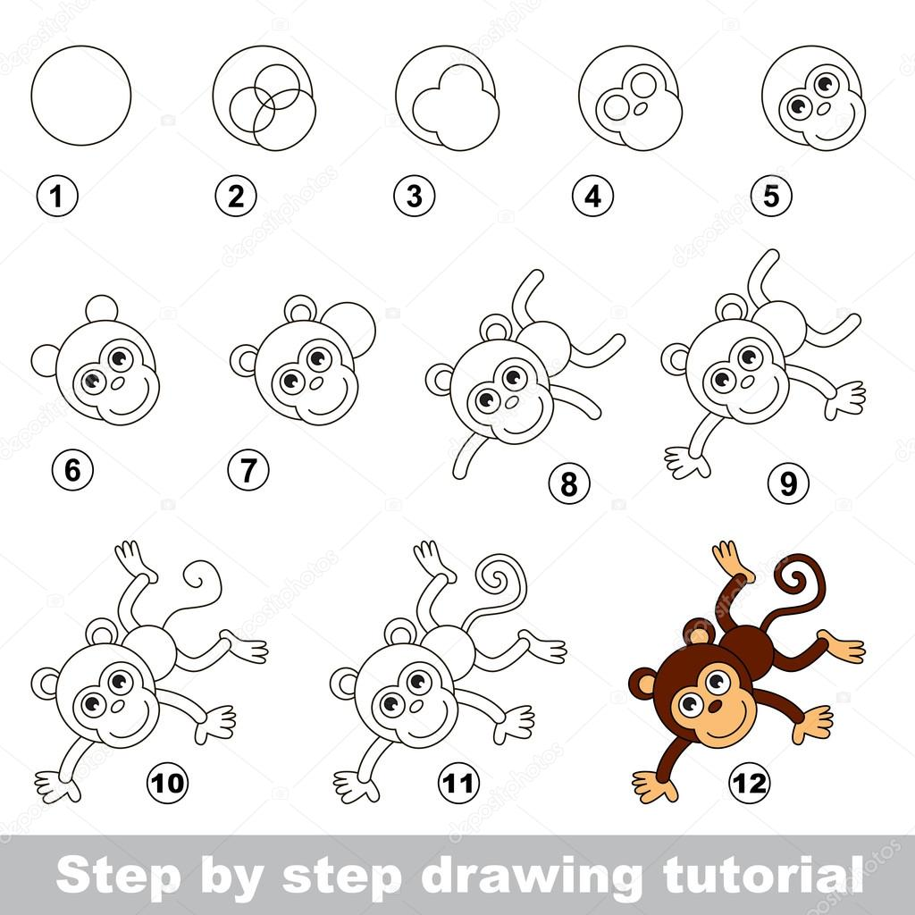 Tutoriel de dessin comment dessiner un singe dr le Teach me how to draw a flower