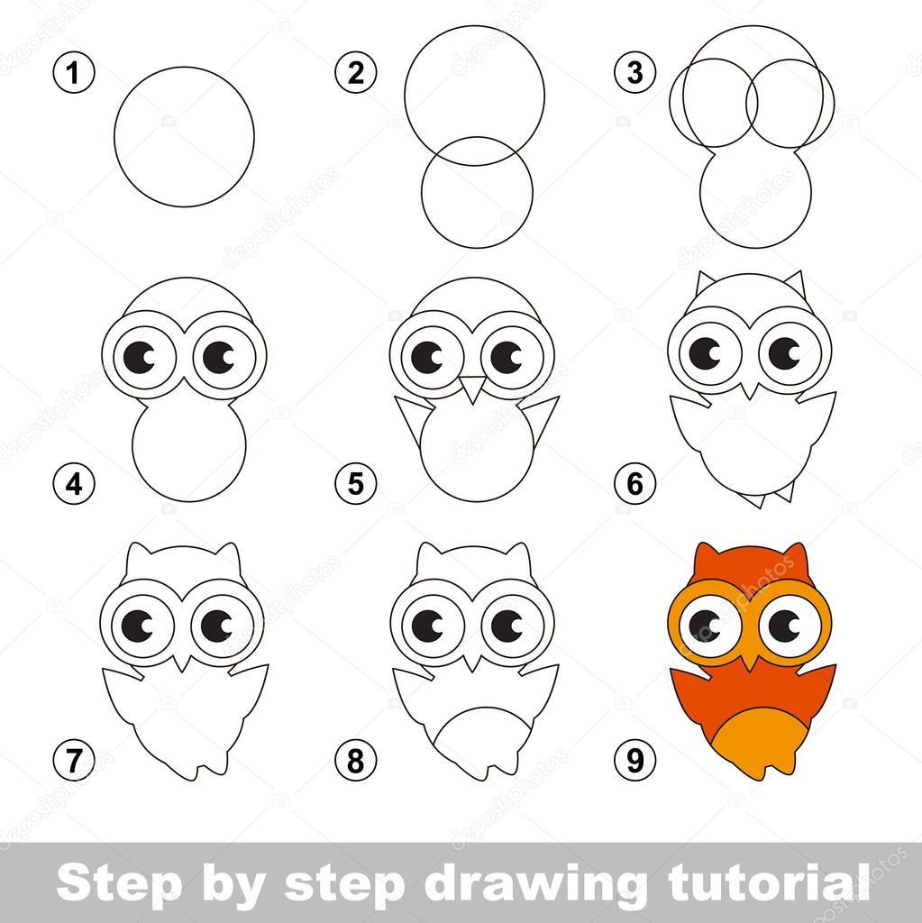 Tutoriel de dessin comment dessiner une chouette mignon for How to make doodle art