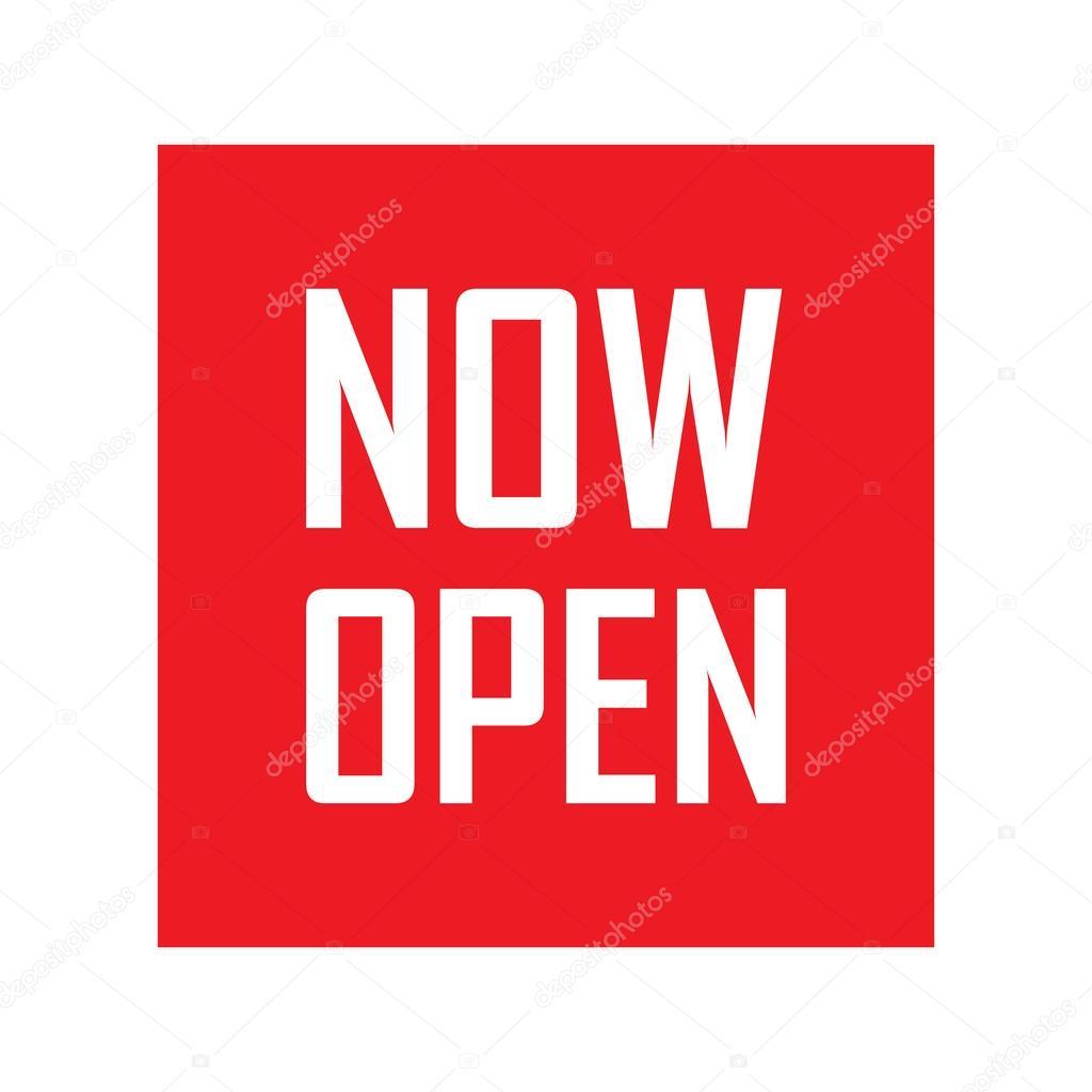 Now open vector — Stock Vector © myub