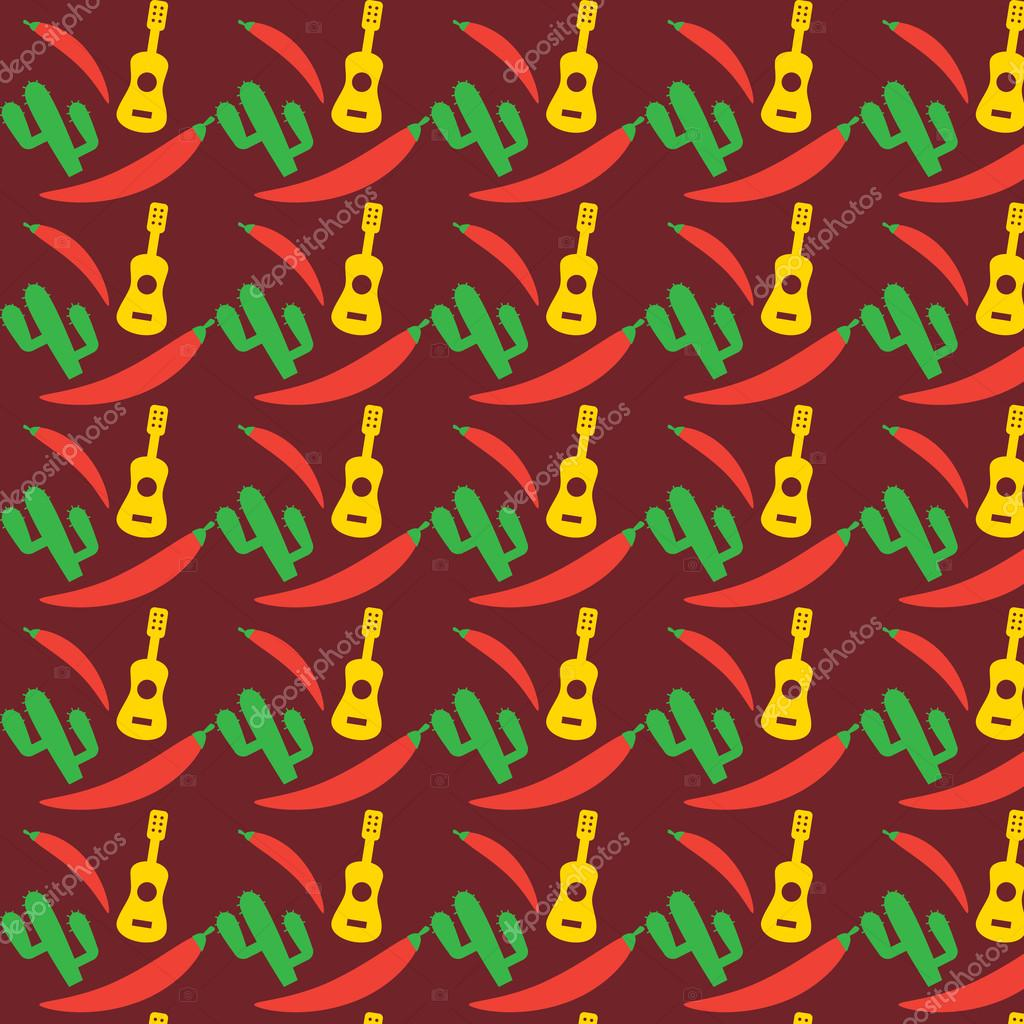 mexican pattern fiesta seamless background mexico