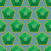 Emerald seamless pattern. Vector background of green gems. — Stock Vector