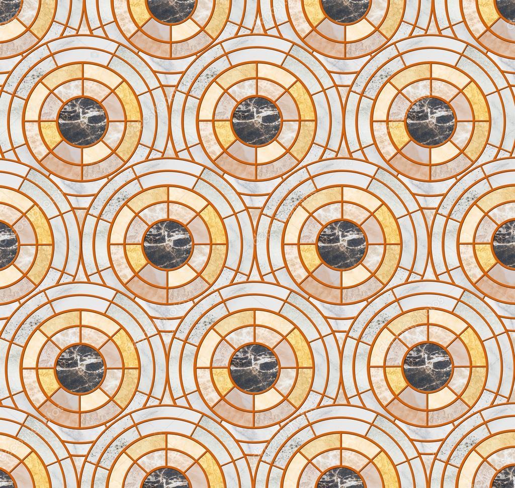 closeup oberfläche kreis kachelmuster durch mischung aus farbigem