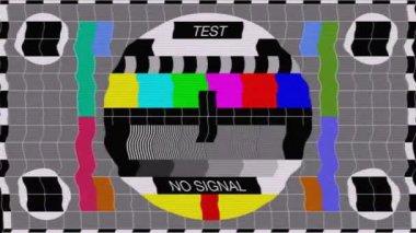 TV Color Calibration Test — Stock Video