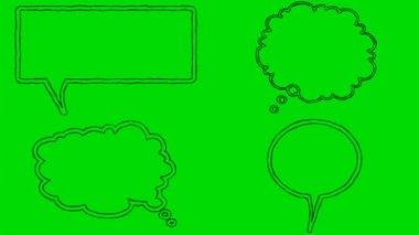 Skutečné animovaný film bubliny na zelené obrazovce pozadí 4k — Stock video