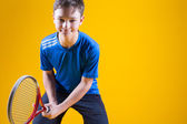 Jogador de tênis de um homem — Fotografia Stock