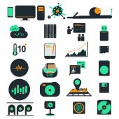 Computer business icons — Stock Vector