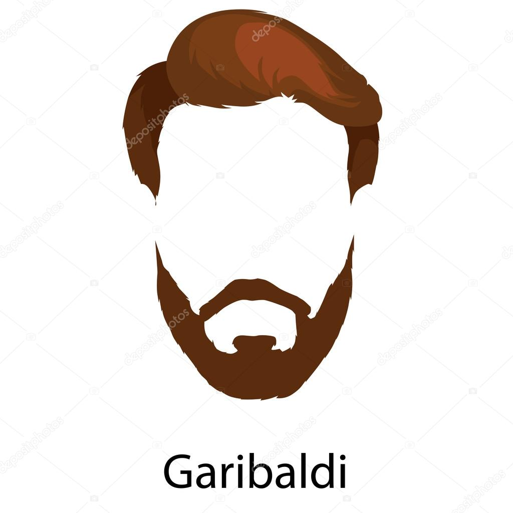 Bearded man cartoon
